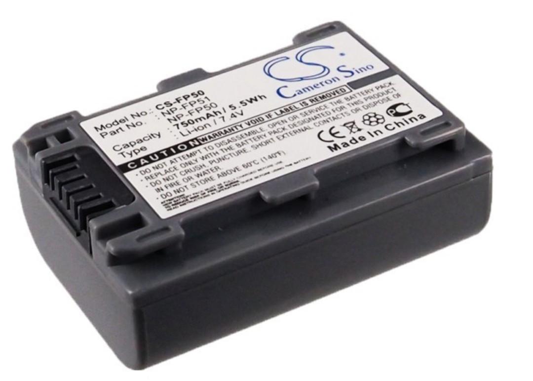SONY NP-FP30 NP-FP50 NP-FP51 Camera Battery image 0