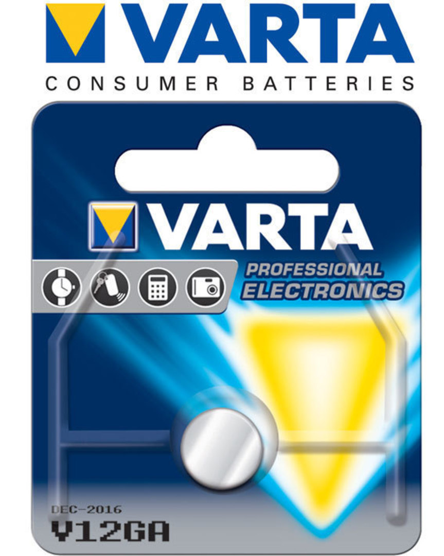 Varta LR43 V12GA Alkaline Button Battery image 0