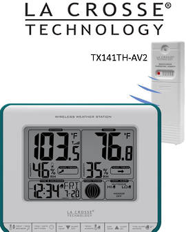 308-1711BL Lacrosse Station with Heat Index & Dew Point
