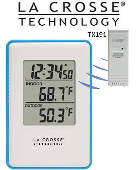308-1910B La Crosse Blue In/Outdoor Temp Station