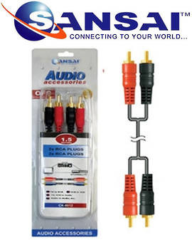 SANSAI 2RCA Plugs To Plugs 1.5m