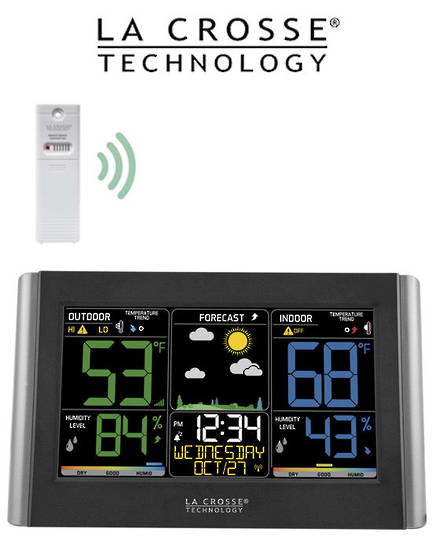 C85845 Wireless Color Weather Station Black