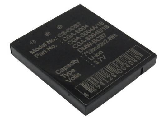PANASONIC CGA-S004, CGA-S004A, CGA-S004A/1B Compatible Battery
