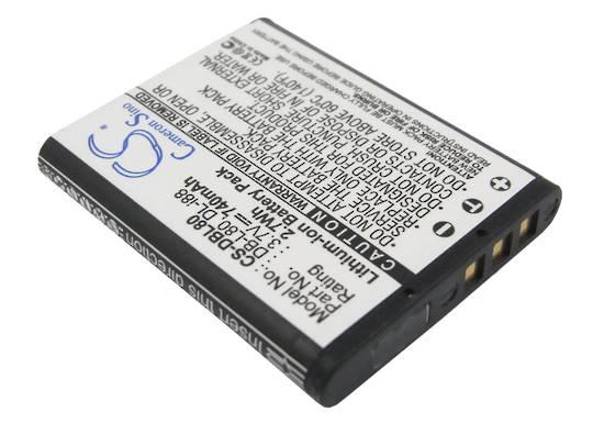 SANYO DBL80 PENTAX DLI88 Compatible Battery