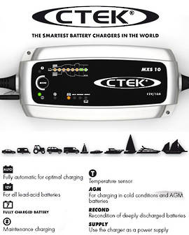 CTEK MXS 10.0 Smart 12 Volt Battery Charger