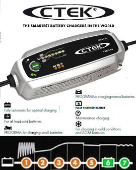 CTEK MXS 3.8 12V 1.2 to 85AH (130Ah) 7 stage
