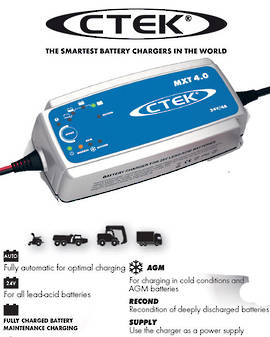 CTEK MXT 4.0 Smart 24 Volt Battery Charger