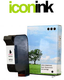 Compatible HP 15 Black Ink Cartridge (C6615DA)