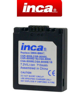 INCA PANASONIC CGA-S006E DMW-BMA7 Camera Battery
