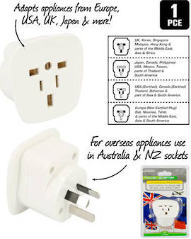 International Travel Adaptor for New Zealand and Australian