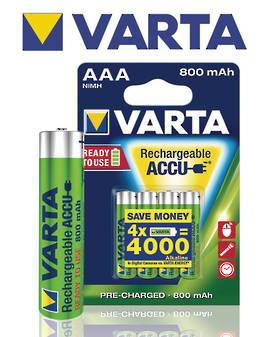 VARTA R2U Rechargeable Accu AAA 800mAh