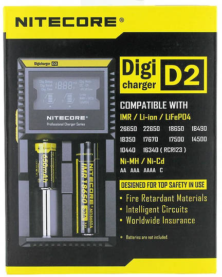 NITECORE D2 Digi Charger Universal Battery Charger