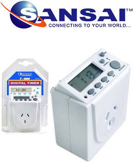 SANSAI 24 Hour 7 Days Digital Mains Timer