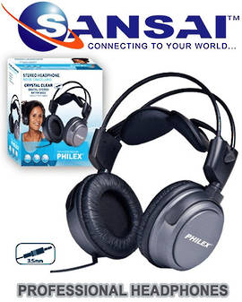 PHILEX Prof Crystal Clear Sound Stereo Headphone