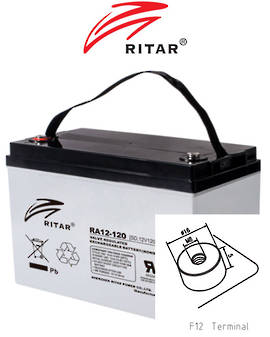 RITAR RA12-120SD 12V 120AH Deep Cycle SLA Battery