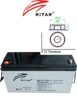 RITAR RA12-150 12V 150AH SLA Battery