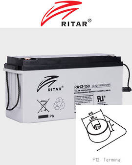 RITAR RA12-150SD 12V 150AH Deep Cycle SLA Battery