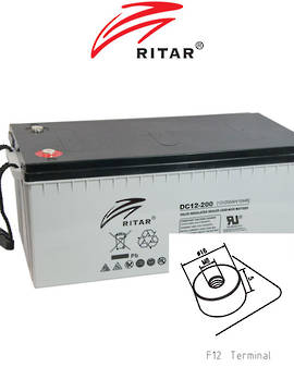 RITAR RA12-200SD 12V 200AH Deep Cycle SLA Battery