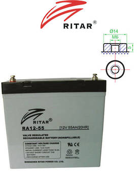 RITAR RA12-55 12V 55AH SLA battery