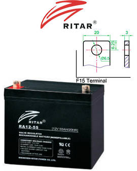 RITAR RA12-55D 12V 55AH Deep Cycle SLA Battery