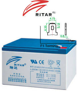 RITAR RT12140EV 12V 14AH SLA battery