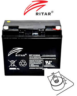 RITAR RT12200 12V 20AH SLA battery