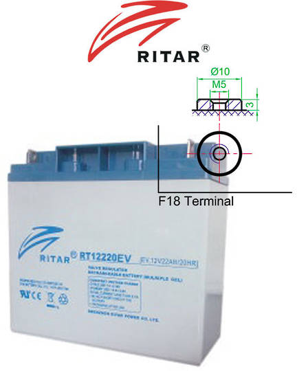 RITAR RT12220EV 12V 22AH Deep Cycle SLA Battery