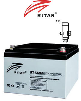 RITAR RT12260 12V 26AH SLA battery (F13 Plug)