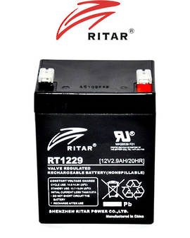 RITAR RT1229 12V 2.9AH SLA battery