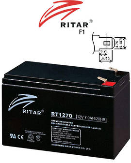 RITAR RT1270 12V 7AH SLA battery