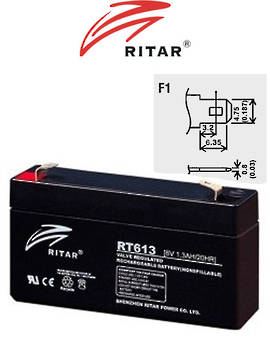 RITAR RT613 6V 1.3AH SLA battery