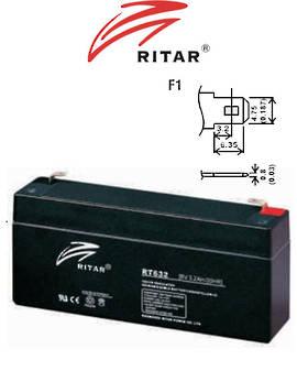 RITAR RT632 6V 3.2AH SLA battery