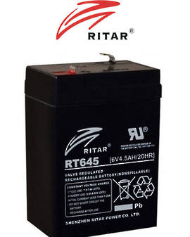 RITAR RT645 6V 4.2AH Battery SLA Lead Acid battery