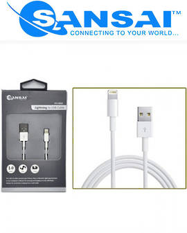 SANSAI Lightning to USB Cable for Apple Devices