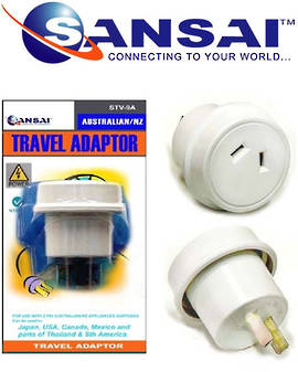 SANSAI Travel Adaptor for NZ/AUS to Japan USA Canada China