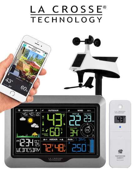 V40A-PRO La Crosse WIFI Complete Colour Weather Station