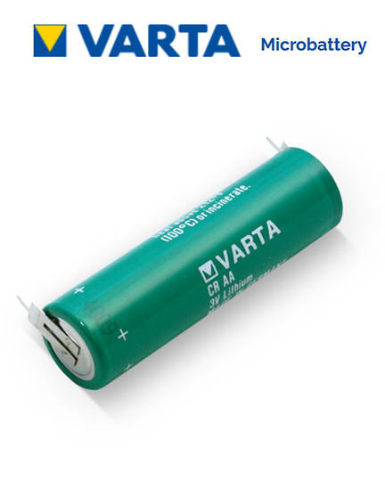 VARTA CR AA Lithium battery with 2-Pin