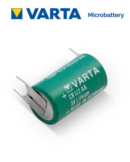 VARTA CR1/2AA Lithium Battery with 3-Pin D+7mm