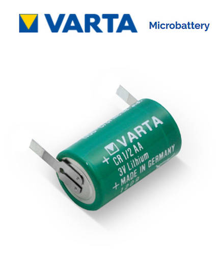 VARTA CR1/2AA Lithium Battery with Solder Tags