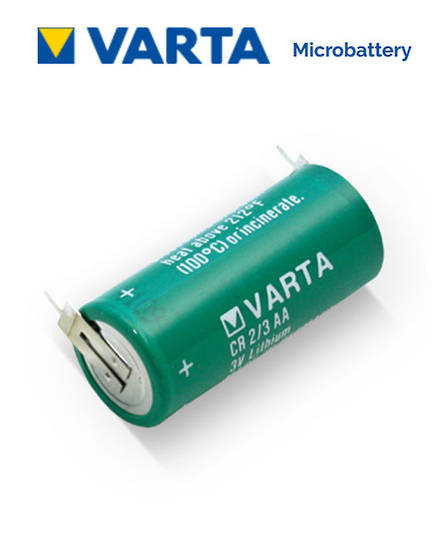 VARTA CR2/3AA Lithium Battery with 2-Pin