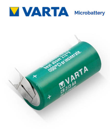 VARTA CR2/3AA Lithium Battery with 3-Pin D+10mm