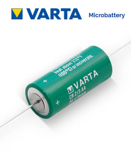 VARTA CR2/3AA Lithium Battery with Axial Lead