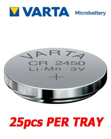 VARTA CR2450 Lithium Battery, 25Pcs Tray.