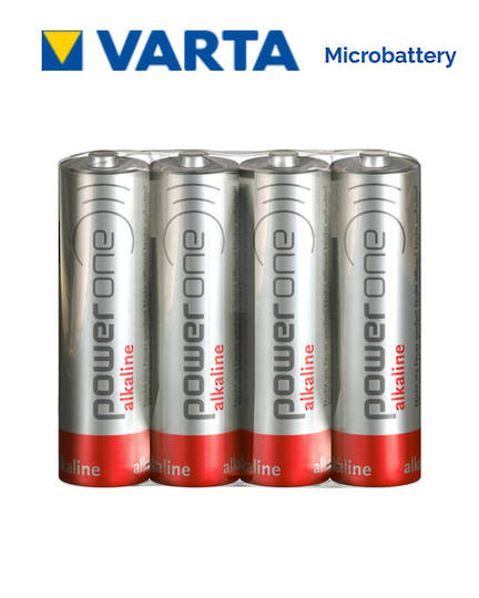 VARTA POWERONE AA Alkaline Battery, Pack of 4