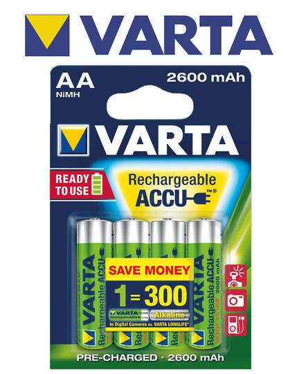 VARTA R2U Rechargeable Accu AA 2600mAh