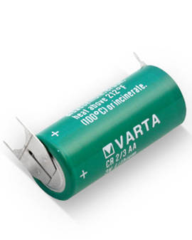 Varta CR2/3AA Lithium Battery with 3-Pin (D+10mm)