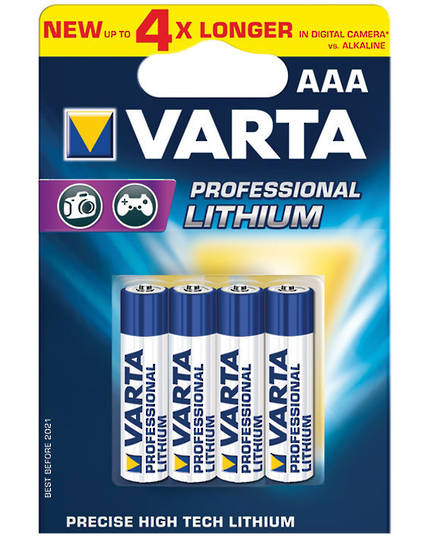 Varta AAA Lithium Battery 4 Pack
