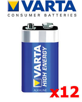 Varta High Energy 9V Alkaline 12 Pack