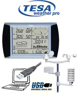 WS1081 TESA Prof Touch Screen Weather Station with PC Links
