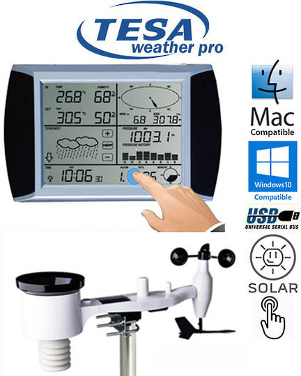 WS1081 Ver3 TESA Touch Screen Panel Weather Center with PC interface